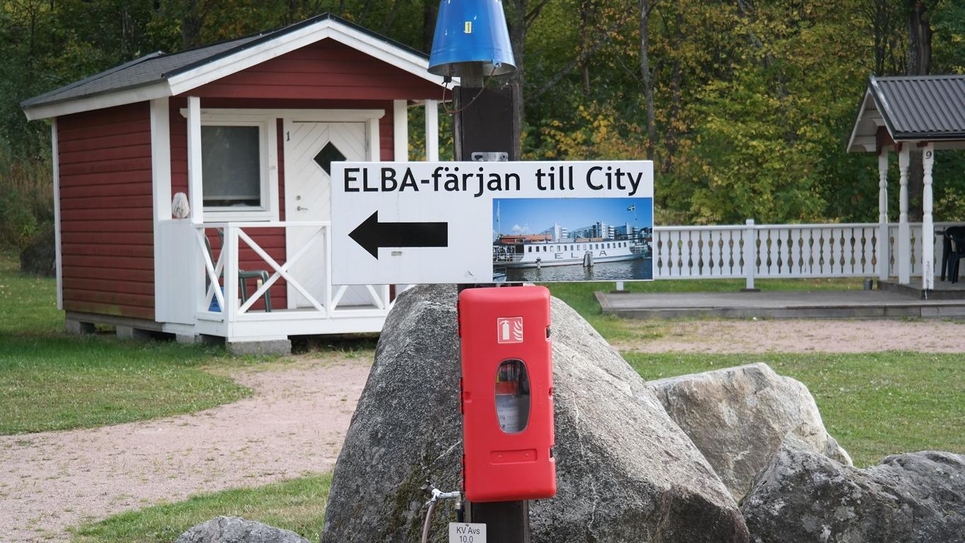 ELBA-färjan tar dig till city på bara 20 min.